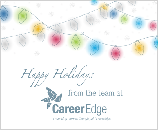Happy Holidays from the team at Career Edge!